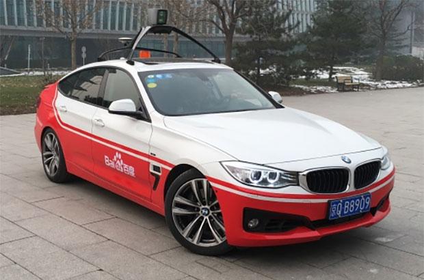 La vettura a guida autonoma di Baidu