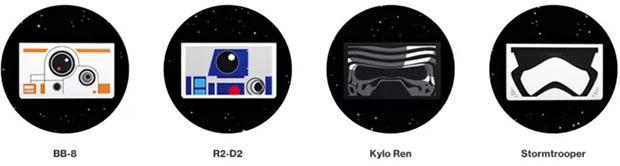 I visori Cardboard personalizzati a tema Star Wars, disponibili presso i negozi Verizon
