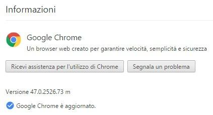 La nuova versione del browser Chrome