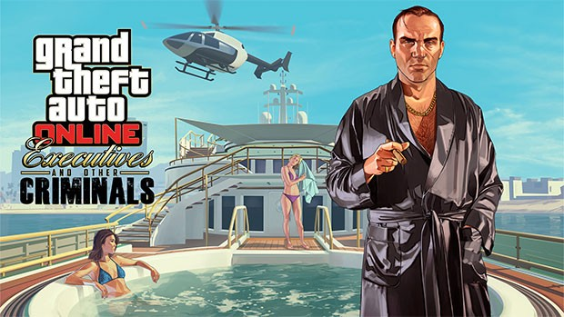 L'artwork di Grand Theft Auto Online: Dirigenti e altri criminali