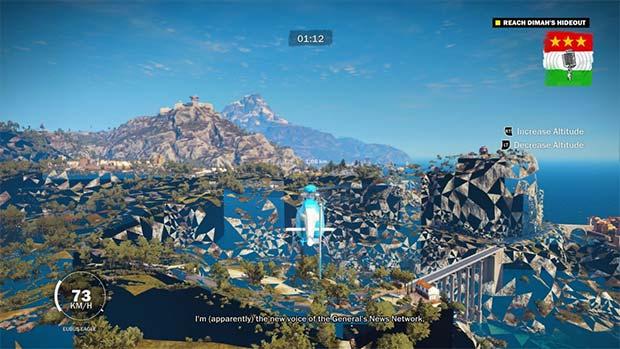 Uno dei glitch che affliggono il comparto grafico di Just Cause 3 su PC