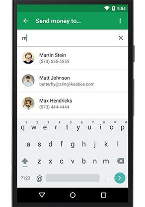 L'invio di denaro in Google Wallet tramite un SMS
