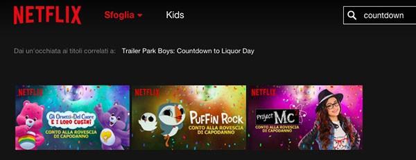Netflix, Capodanno dei bimbi