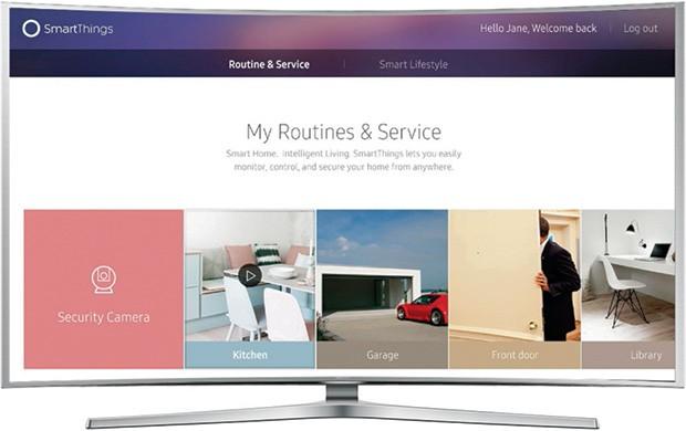 L'interfaccia dei nuovi televisori Ultra HD di Samsung, con supporto alle tecnologie smart home e Internet of Things