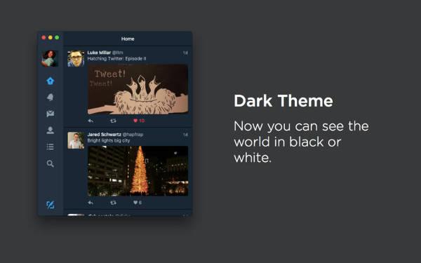 Twitter, nuovo tema dark