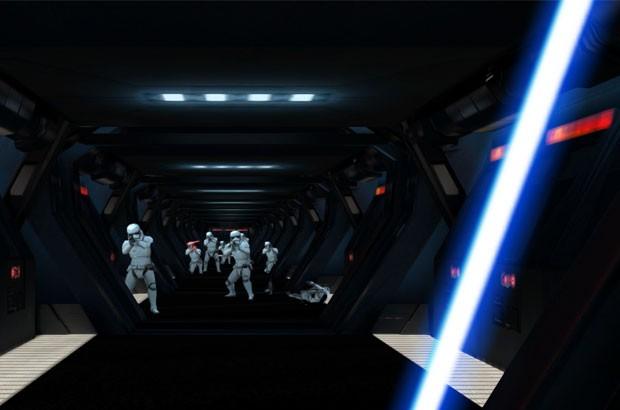 Fuga con una spada laser