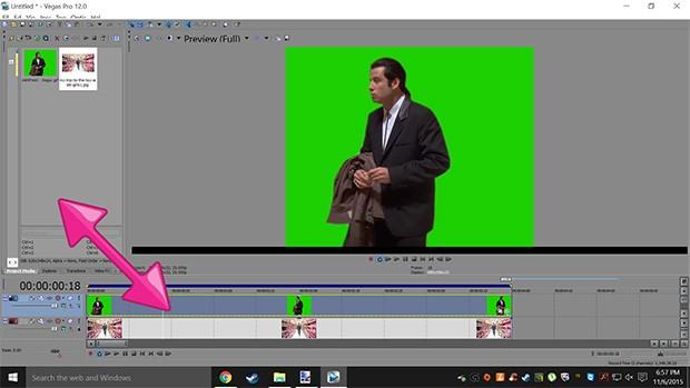 Uno screenshot dal tutorial sul meme Confused Travolta