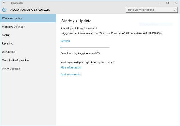 Windows 10, arriva un nuovo update cumulativo