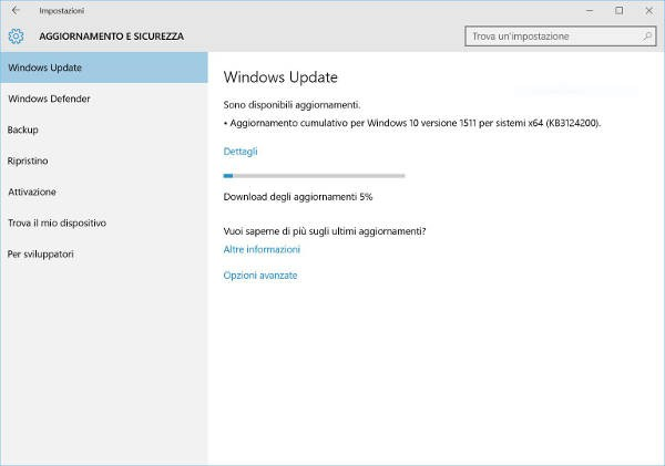 Windows 10, nuovo update cumulativo 10586.36