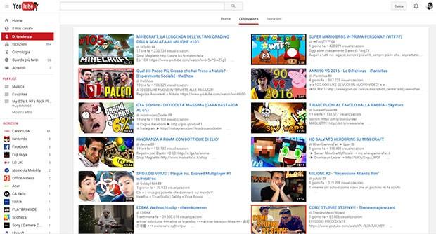 """La nuova sezione """"Di tendenza"""" su YouTube"""