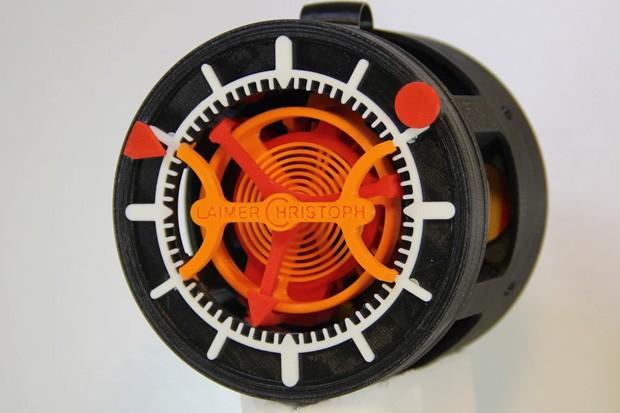 L'orologio realizzato da Christoph Laimer e interamente stampato in 3D