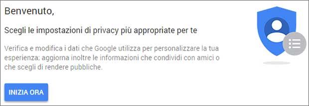 Google: controllo privacy