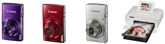 CanonXUS 285 HS, IXUS 180, IXUS 175 e SELPHY CP1200