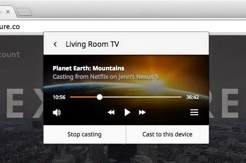 La nuova funzionalità per il supporto nativo alla tecnologia Cast da parte del browser Chrome