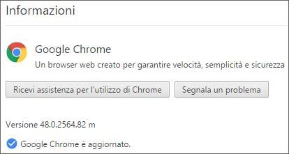 Google ha aggiornato la versione stable del browser Chrome alla release 48.0.2564.82 m