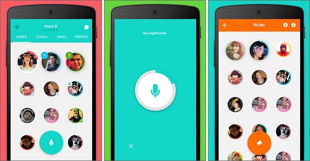 Screenshot per l'applicazione Cord su smartphone Android