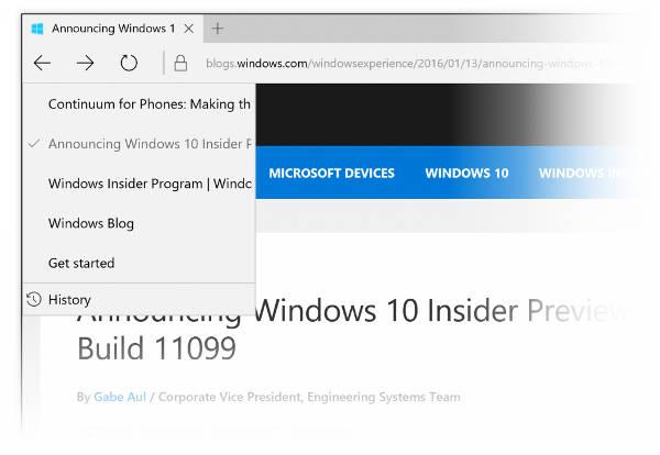 Windows 10 build 11102, la novità di Edge