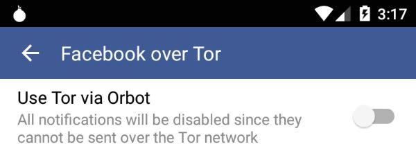 Facebook su Android migliora la privacy con Tor
