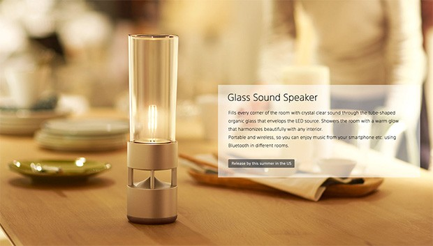 Glass Sound Speaker, l'altoparlante Bluetooth di Sony
