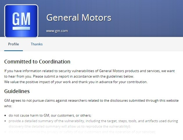 HackerOne per General Motors