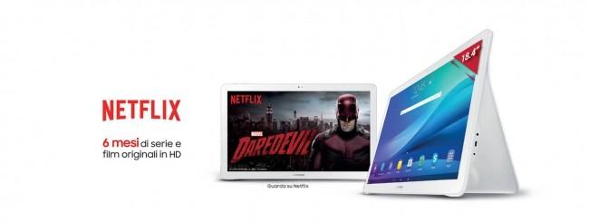 Samsung regala 6 mesi di Netflix con Galaxy View