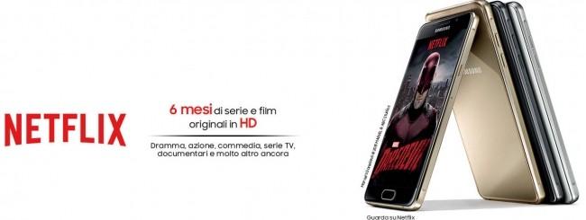 Samsung Galaxy A5 e A3 regalano Netflix