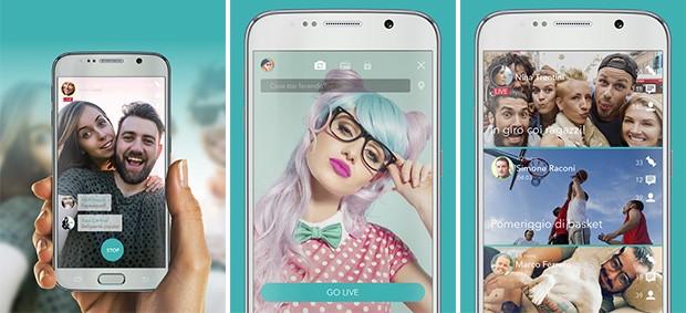 L'applicazione Streamago su smartphone Android