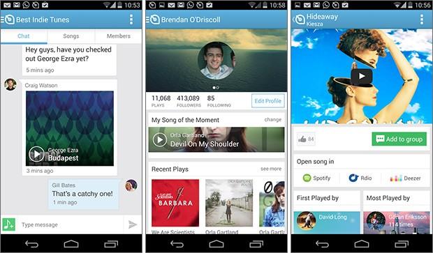 Screenshot per l'applicazione Soundwave su smartphone Android