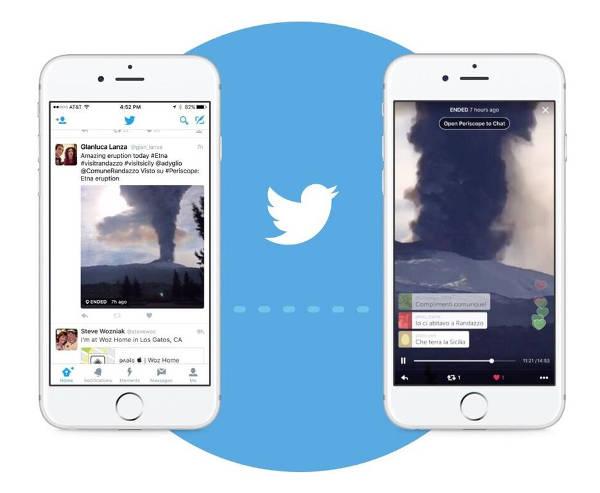 Twitter porta le Live di Periscope nella Timeline