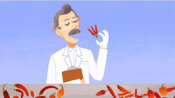 Il doodle interattivo realizzato da Google per omaggiare Wilbur Scoville