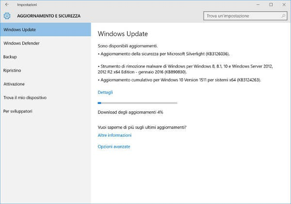 Windows 10, Microsoft rilascia la build 10586.63