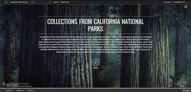 La collezione California National Parks