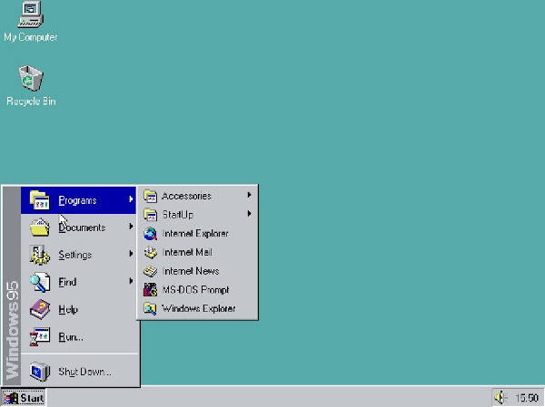Windows 95 si esegue in un browser