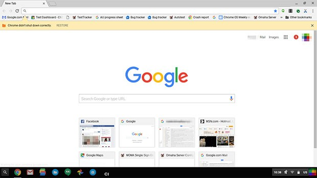 L'interfaccia del browser Chrome ridisegnata secondo lo stile del Material Design
