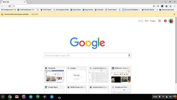 L'interfaccia del browser Chrome ridisegnata secondo lo stile del Material Design