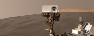 Curiosity su una duna marziana