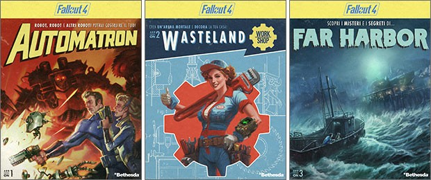 Le tre espansioni annunciate per Fallout 4: Automatron, Wasteland Workshop e Far Harbor