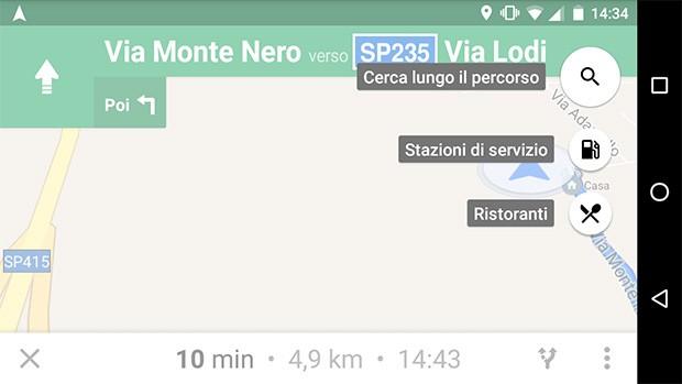 """La funzionalità """"Aggiungi fermata"""" introdotta da Google nella navigazione stradale di Maps"""