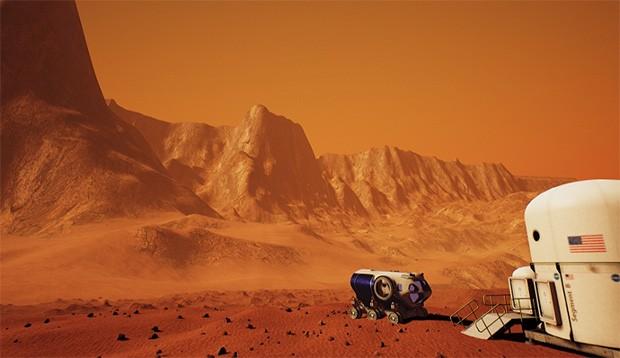 Un'immagine di Mars 2030, basato su Unreal Engine 4