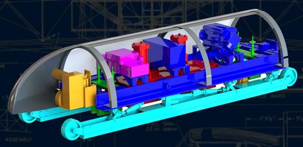 Il pod disegnato dal MIT per il sistema Hyperloop