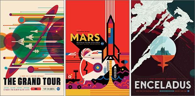 I poster realizzati da Invisible Creature per la NASA