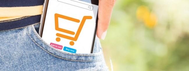 Smartphone strumento per lo shopping online