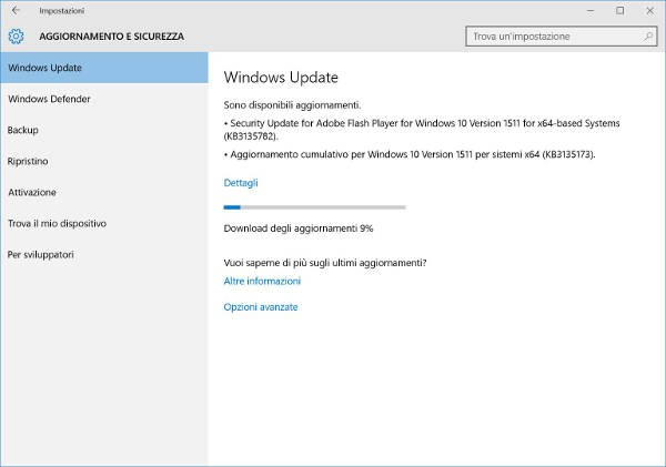 Windows 10 build 10586.104: correttivi e bug fix