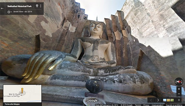 Thailandia: il Sukhothai Historical Park su Street View