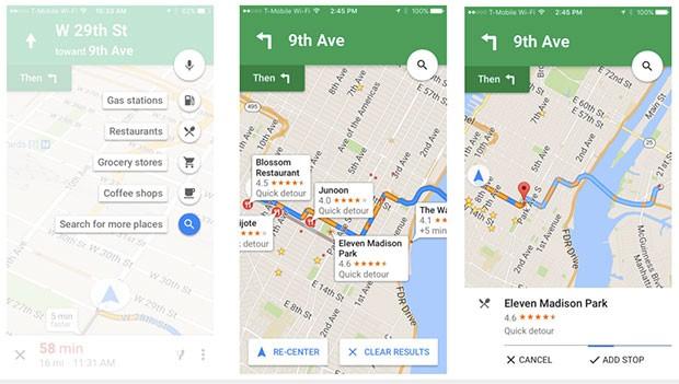 Google introduce la possibilità di stabilire fermate intermedie durante la navigazione stradale anche nella versione iOS dell'applicazione Maps