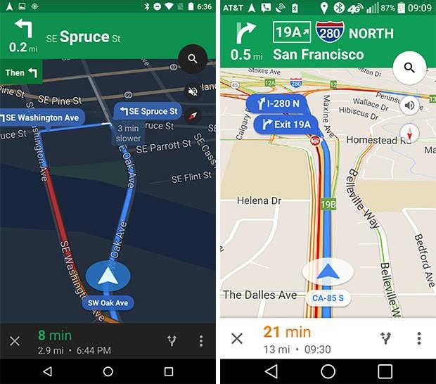 Le nuove indicazioni di svolta in Google Maps