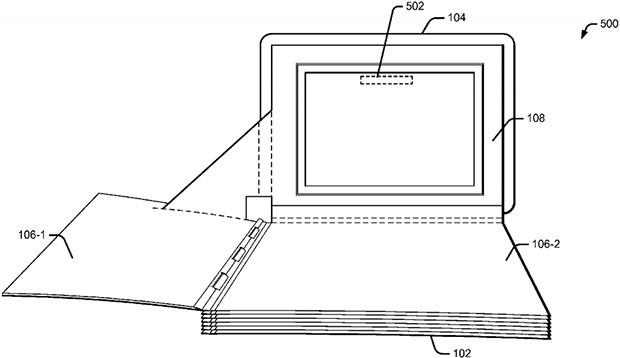 """Lo schema incluso nel brevetto """"Media enhanced pop-up book"""" depositato da Google"""