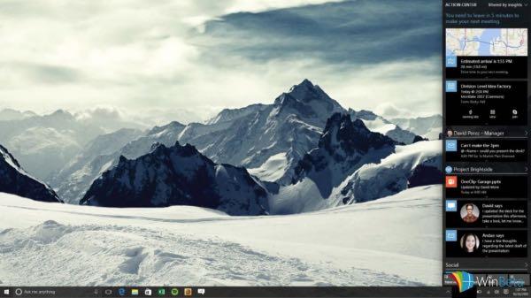 Windows 10, nuova UI per Action Center