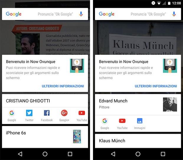 La funzionalità OCR per il riconoscimento del testo in Google Now on Tap (Google Now Ovunque)