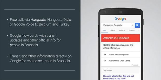 Le iniziative di Google in seguito agli attentati in Belgio e Turchia